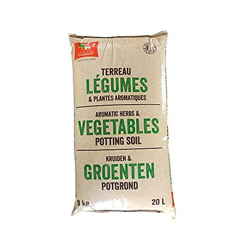 La Plaine ChASSART - Terriccio verdure e piante aromatiche, 20 l, soluzione speciale con Biocchar per orto, vaso, fioriere, orto o pianeta terra