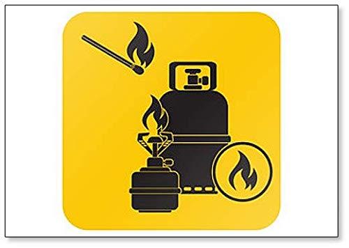 Camping Fornuis met Gas Fles Artwork Illustratie Klassieke Koelkast Magneet
