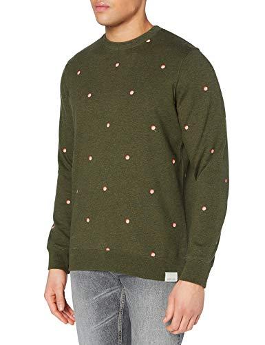 Scotch & Soda Sweatshirt mit Rundhalsausschnitt und Print Sudadera, 0218 Combo B, M para Hombre