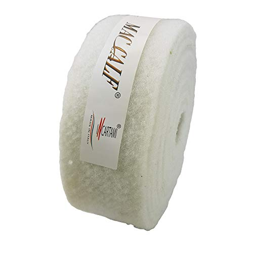 INCARTAMI-ITALIA Nastro Lana Cotta per Decorazioni E Nastri H7 Centimetri 5 MT (Bianco)