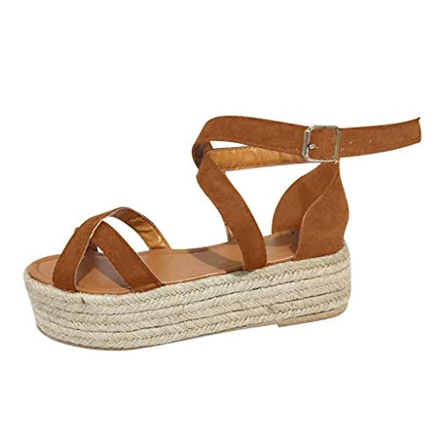 Womens Casual Espadrilles Wedge Sandals Trim Rubber Sole Flatform Studded Platform Buckle Ankle Strap Open Toe Sandal