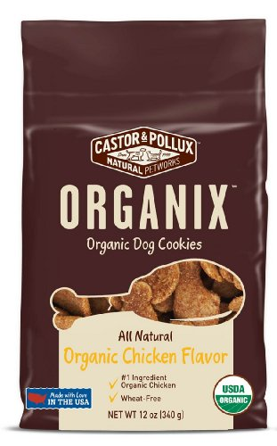 Organix Organic Dog Cookies - Chicken Treats, 12-Ounce Packages (Pack of 4)