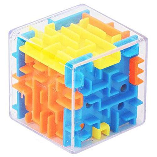 Hahepo Juguete para niños, interesante y transparente de seis caras. Desarrolla la inteligencia de los niños.