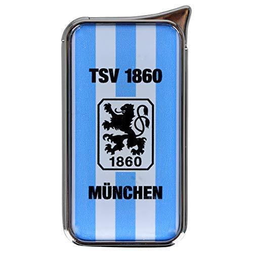 Feuerzeug TSV 1860 München Atomic Doming - offizieller Lizenzartikel (einzeln blau/weiß)