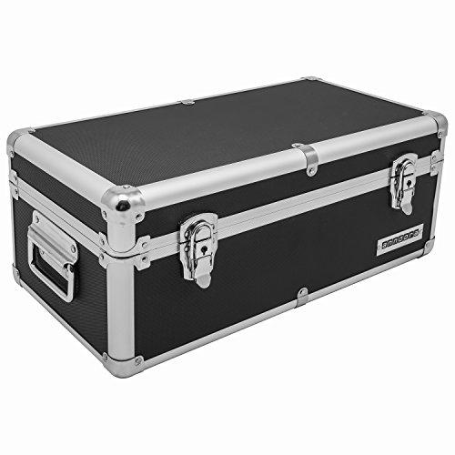 Aluminium-Rahmenkoffer Transport-Box, Koffer in Schwarz mit 19 Liter Volumen