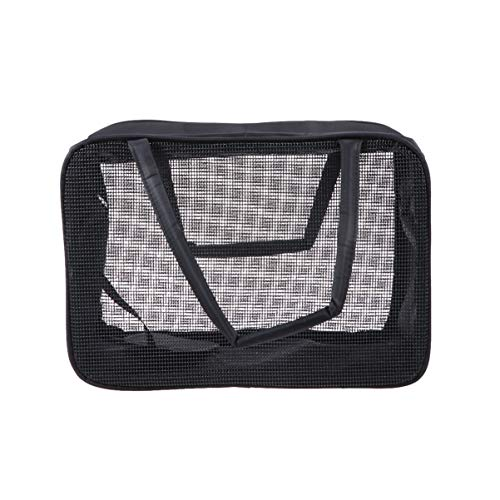 TOPBATHY 1 peça de sacola de lavanderia dobrável grande roupas sujas cesto de armazenamento utilitário bolsa de compras mercearia sacolas utilitárias premium com espelho cosmético preto