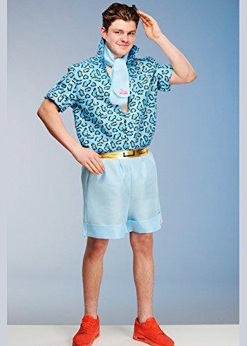 Magic Box Adultos para Hombre Barbie Safari Blue Ken Costume Medium (37-40