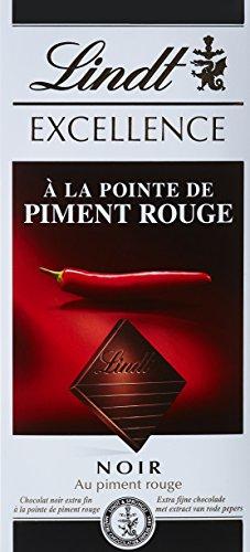 Lindt Excellence Noir à la Pointe de Piment Rouge 100 g