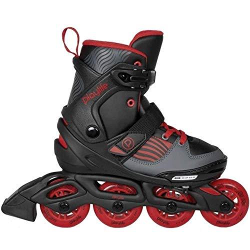 Playlife Dark Breeze, größenverstellbarer 4-Rollen Kinder Inline Skates, ABEC 5