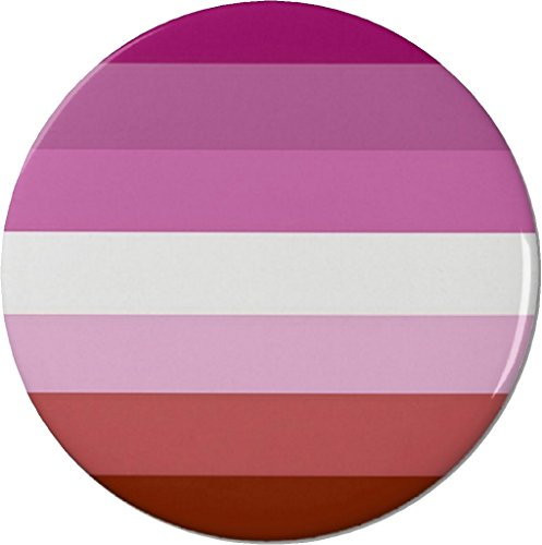 "Lesbian Flag Symbol 1.25"" Pinback Button Pin Support Awareness"