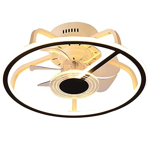 Ventilador De Techo Chic Con Iluminación, Comedor 3 Velocidades Ventilador De Luz De Techo Con Control Remoto, 2 Modos De Cronometraje, Lámpara De Fan Silencioso Para Sala De Estar Cuarto