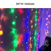 MengC3 メートル * 1 メートル 96 の Led ホーム屋外休日クリスマス装飾 220V 結婚式クリスマス文字列フェアリーカーテン花輪ストリップパーティーライト