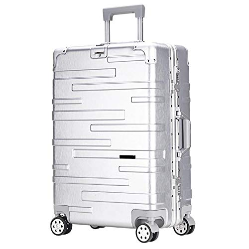 XIANGSHAN Trolley Case - Trendy PC Material Trolley Case Aluminum Frame Version Universal Wheel Luggage Fire Anti-theft Luggage Box 34 Inches 68 * 44 * 24 Cm