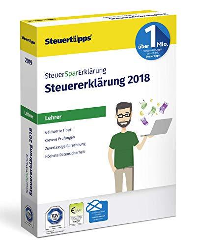 SteuerSparErklärung für Lehrer 2019, Schritt-für-Schritt Steuersoftware für die Steuererklärung 2018, Steuer CD-Rom für Windows 10, 8, 7