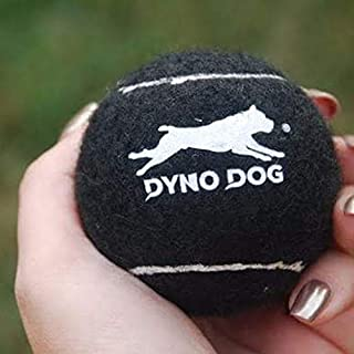 Dyno Dog Training Tennis Balls, Squeaker Inside, Pack of 10, 5 Black, 5 Yellow, Training Guide Included