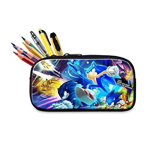 Estuche de lápices sónicos para lápices, de dibujos animados, caja de papelería para niños y niñas, bolsa de almacenamiento de regalo para estudiar suministros escolares
