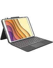 Logitech Combo Touch iPad Air (3. Nesil) A2152, A2123, A2153, A2154 ve iPad Pro 10,5 inç A1701, A1709, A1852, Trackpad, Çıkarılabilir Klavye Kılıfı, Akıllı Konnektör - Siyah
