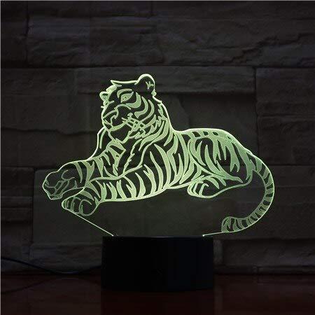 Tigre di luci notturne a LED 3D a distanza con luce per la decorazione domestica Lampada regalo lampada regali ottici