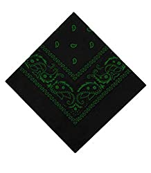 100% Cotton Paisley Bandanna Size: 21 x 21 Inches Can be used for various men and women fashion wear. Set of 12 will ensure you recieve a variety of colours, with no doubles.