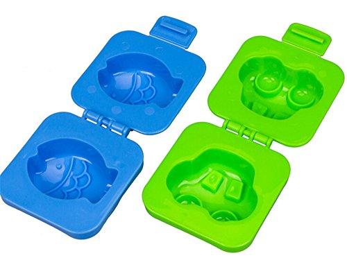 BestMall - Scatola porta pranzo Bento a 2 livelli, completa di bacchette e fascia Fish Car