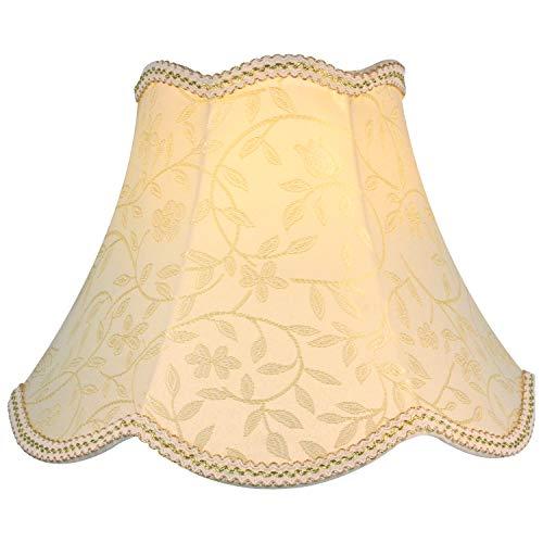 Eastlion E27/E14 Screw Tela Pantalla de Lámpara de Pie Mesa y Lámpara de Noche,beige 30cm