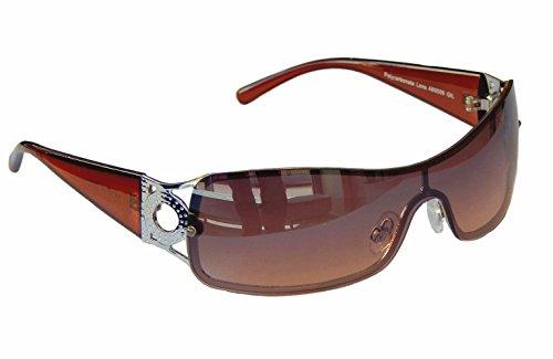 Sonnenbrille Damenbrille Brille Monoglas Sportlicher Style Damen M 34 (Braun Silber Lila Grau)