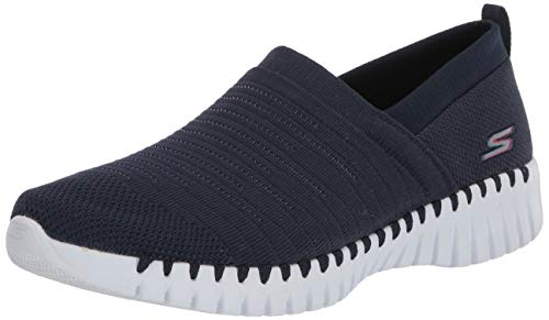 Skechers Damen Go Walk Smart-Wise Sneaker, Blau (Navy Textile/White Trim NVW), 38 EU