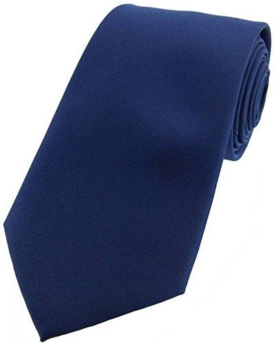 David Van Hagen Cravate marine satin de soie de