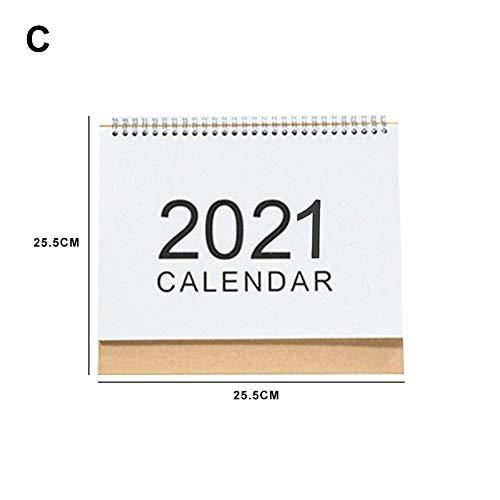 Schreibtisch-Kalender 2020-2021, Monatsansicht, Schreibtisch-Kalender zum Aufstellen, Dreieck-Kalender für Heimbüro, 4 Größen, Monatskalender 2021, Large