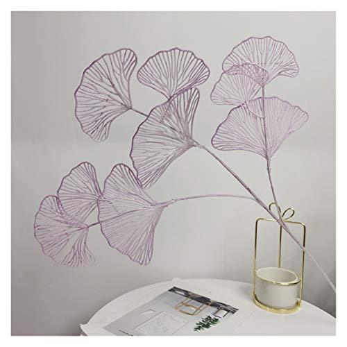 WANGJBH Dried Flowers 1pc,Simulation de Plantes en Feuille de Ventilateur, décoration de Maison, noël, Balcon, Salon, Bureau, Arrangement Floral de Mariage Potpourri (Couleur : Purple)