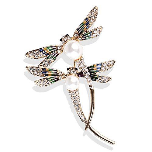 Nueva libélula broches gran pareja voladora insecto libélula broche pins mujeres traje de hombre corsage collar abrigo joyería Broach