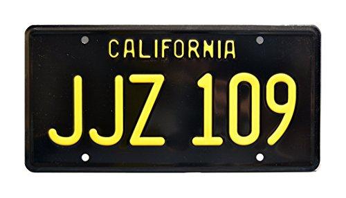 Celebrity Machines Bullitt | Steve McQueen's '68 Ford Mustang | JJZ 109 | Metal Stamped Vanity Prop License Plate