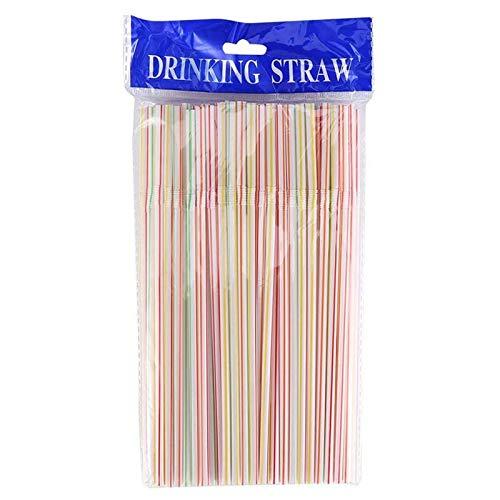 600 Stück aus Kunststoff Knickbare Bunte Trinkhalme, Plastik Trink Strohhalme,Heim-Strohhalme für Party, Softdrinks, Milchshakes,Getränkehäuser usw