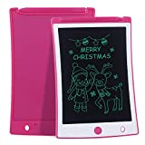 JefDiee 8.5 Inches LCD Writing Tablet Kids Drawing Writing Boards, Electronic Learning and Education Toys, Doodle Scribbler Boards Gifts for Kids and Toddlers at Home, School and Kindergarten (Pink)