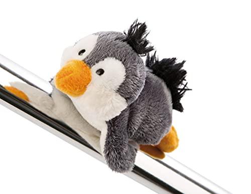 NICI 47261 Pinguin 12cm – MagNICI Plüschpinguin Winterkollektion – Stofftiere & Kuscheltiere mit Magnet – Magnettiere für Kühlschrank, Tafel, Metall & vieles mehr, grau/weiß, 12 cm