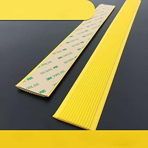 MELAG Perfil de Borde de Escalera Alfombrilla Antideslizante de PVC para escaleras,Bordes de Piso,Pegatinas para escalones,escalones de baldosas (200 cm de Largo x 4 cm de Ancho x 0,3 cm de Grosor)
