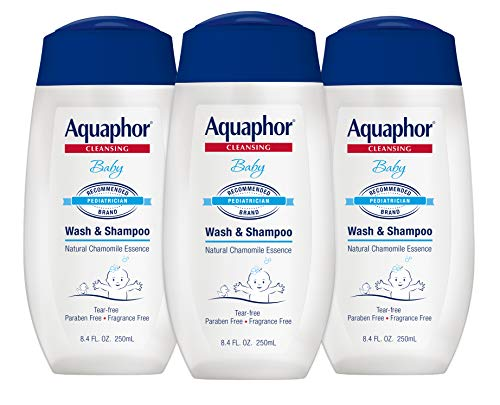 Aquaphor Baby Wash and Shampoo - Mild, Tear-Free 2-in-1 Solution for Baby's Sensitive Skin - 8.4...