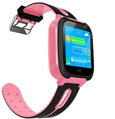YQCH Reloj inteligente para niños – GPS Tracker Smartwatches Muñeca Reloj Digital Teléfono SOS Alarma Cámara Linterna Reloj Teléfono para Niños Edad 3-10 Niños Niñas con iOS Android Regalos