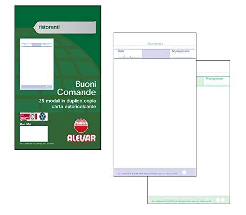 Blocchi Comande 25 moduli in duplice copia Formato cm 10x17 Conf. da 10 Blocchi
