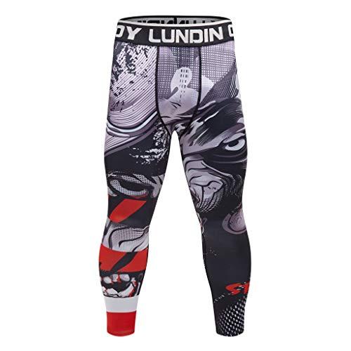 Pantalones De Yoga para Hombres, Pantalones Pitillo Estampados Yoga Fitness Pantalones Deportivos...