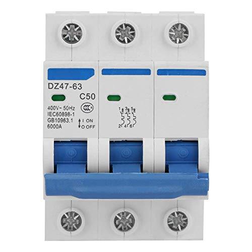 LHQ-HQ 3P Disyuntor Miniatura Protección DZ47-63 50A 400V de energía Solar Pequeñas Centrales de Generación de Sistemas combinador Cajas