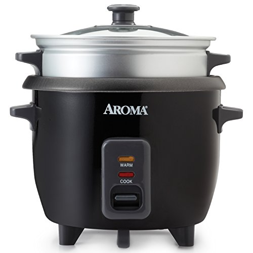 Aroma Housewares ARC-363-1NGB 3 Uncooked/6 Cups Cooked Rice Cooker, Steamer, Multicooker, Silver