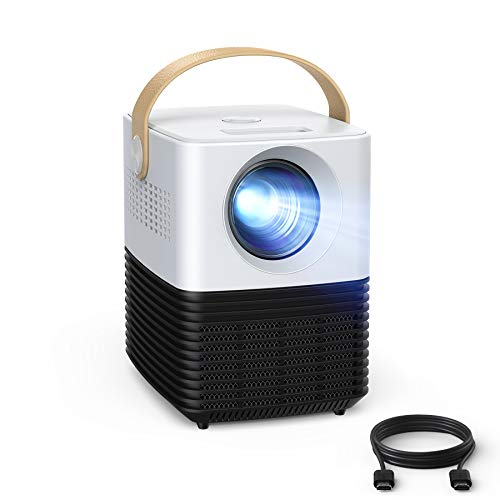 """2021 Updated Mini Projector, APEMAN Native 1080P Full HD LED Portable Home Theater Projector Support 4K, 120"""" Screen for Indoor/Outdoor, ±50° Keystone 50000hrs lamp Life, Compatible with HDMI/TV Stick"""