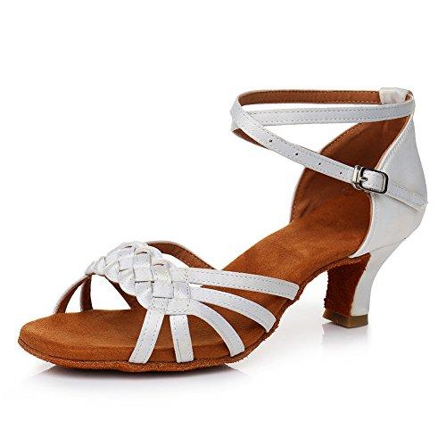Zapatos de Baile Latino para Mujer Satin de Salón Salsa Tango Practice...