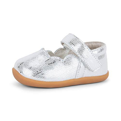 See Kai Run, Susie Mary Jane for Infants, Silver, 4