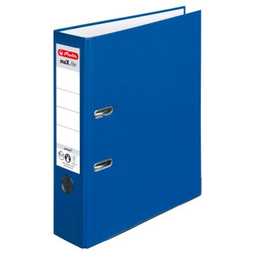 Herlitz 5480405 Ordner maX.file protect A4 (8 cm mit Einsteckrückenschild) blau