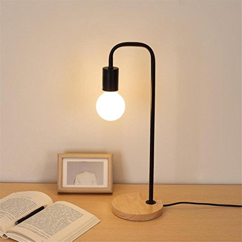 TAIDENGTF Fashion Personality Creative Schreibtisch Lampe Art Schlafzimmer Einfache Holzlampe (Dieses Produkt liefert Keine Glühbirnen)