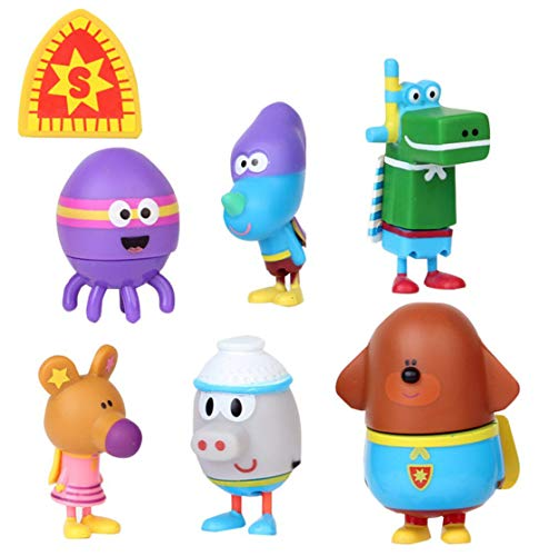 7 PCS Hey Duggee game Cake Toppers Cute Toys Birthday Gift Set