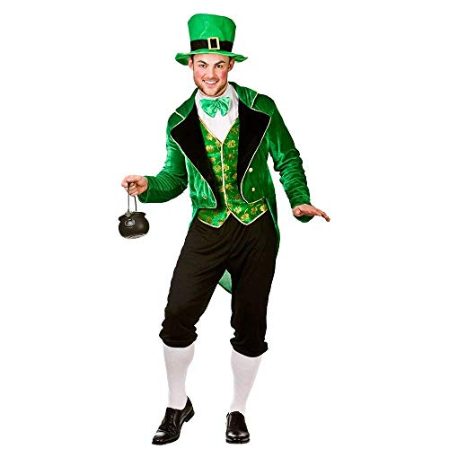Deluxe Leprechaun - Adult Costume Man: L (Chest: 44\