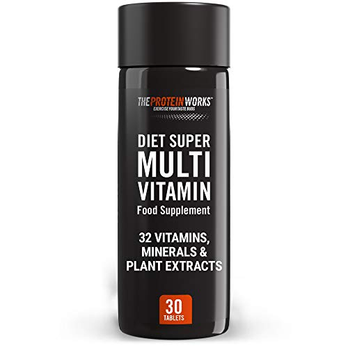 THE PROTEIN WORKS Diet Super Multi-Vitamin Supplement Tablets | 32 Key Vitamins | Minerals and Plant Extracts | Vitamin D3 | Easy to Swallow | Suitable for Men and Women | 30 Tablets
